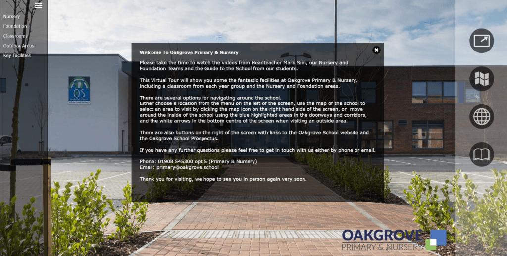click for Oakgrove Primary virtual tour