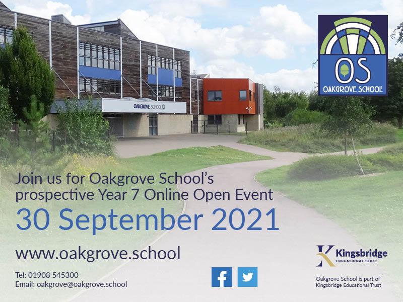 Oakgrove School Virtual Open Day